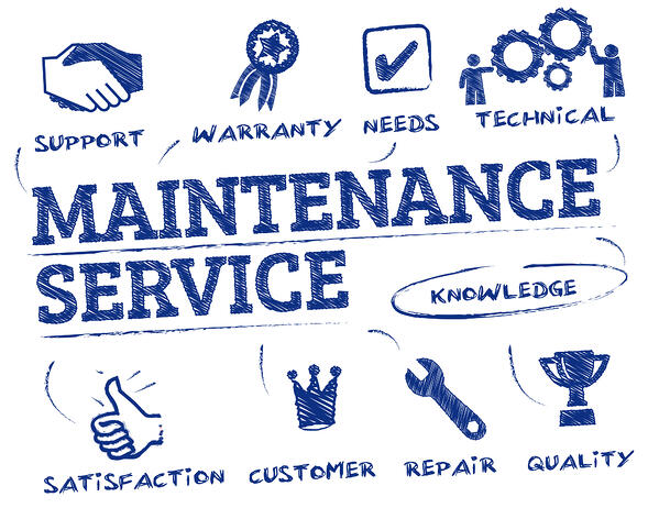 Maintenance Service concept with icons around it Property Maintenance