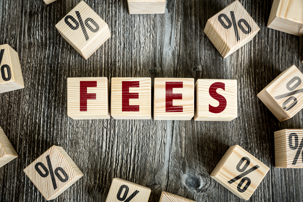 Wooden Blocks with the text Fees-1